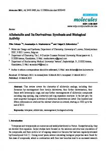 Allobetulin and Its Derivatives: Synthesis and Biological ... - CiteSeerX