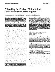 Allocating the Costs of Motor Vehicle Crashes Between Vehicle Types