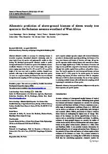 Allometric prediction of above-ground biomass of eleven woody tree ...
