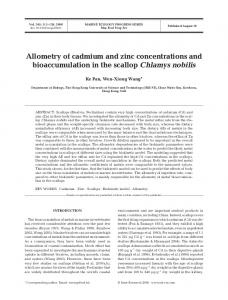 Allometry of cadmium and zinc concentrations and bioaccumulation in ...