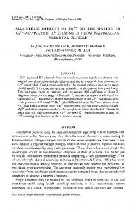 ALLOSTERIC EFFECTS OF Mg * ON THE GATING ... - Semantic Scholar