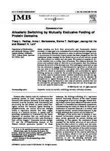 Allosteric Switching by Mutually Exclusive Folding of Protein Domains