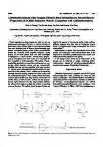 Allyltrimethoxysilane as the Reagent of Double Bond Introduction to