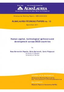 ALMALAUREA WORKING PAPERS no. 15 Human capital ...
