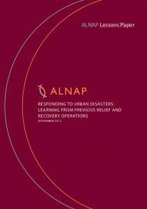 ALNAP Lessons Paper 'Responding to Urban Disasters: Learning ...