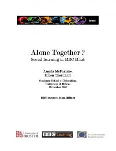 Alone Together? Social Learning in BBC Blast
