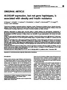 ALOX5AP expression, but not gene haplotypes, is associated with ...