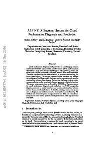 ALPINE: A Bayesian System for Cloud Performance Diagnosis and ...