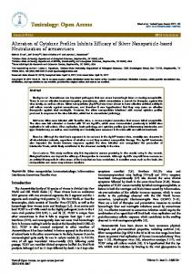 Alteration of Cytokine Profiles Inhibits Efficacy of Silver Nanoparticle ...
