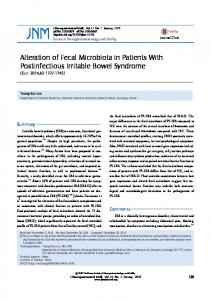 Alteration of Fecal Microbiota in Patients With ... - Semantic Scholar