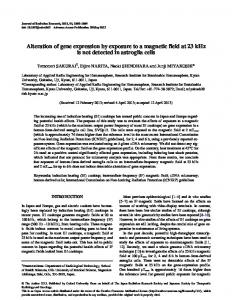 Alteration of gene expression by exposure to a ... - Oxford Journals