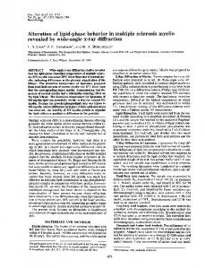 Alteration of lipid-phase behavior in multiple sclerosis ... - Europe PMC