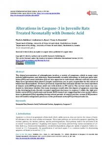 Alterations in Caspase-3 in Juvenile Rats Treated Neonatally with ...