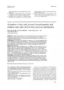 Alterations in fetal and placental deoxyribonucleic acid synthesis ...