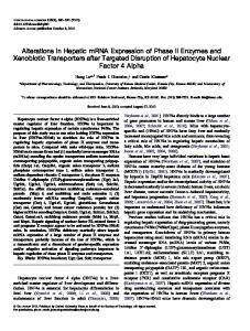 Alterations in Hepatic mRNA Expression of Phase II ... - Oxford Academic