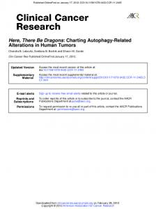 Alterations in Human Tumors : Charting Autophagy ...