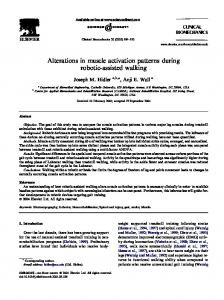 Alterations in muscle activation patterns during robotic-assisted walking