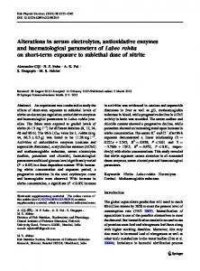 Alterations in serum electrolytes, antioxidative ... - Springer Link