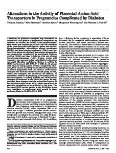 Alterations in the Activity of Placental Amino Acid ... - Diabetes