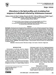 Alterations in the lipid profiles and circulating liver enzymes in