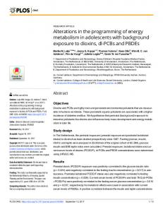 Alterations in the programming of energy metabolism in ... - PLOS