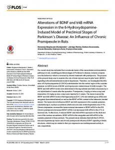 Alterations of BDNF and trkB mRNA Expression in ... - Semantic Scholar