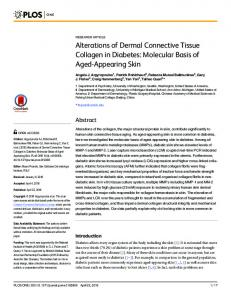 Alterations of Dermal Connective Tissue Collagen