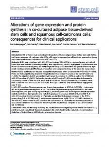 Alterations of gene expression and protein synthesis ... - BioMedSearch