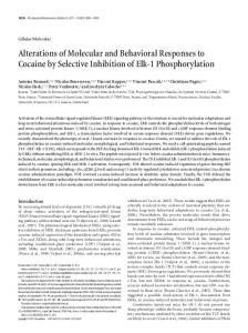 Alterations of Molecular and Behavioral Responses to Cocaine by ...