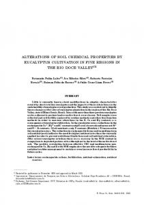 alterations of soil chemical properties by eucalyptus