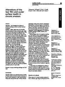 Alterations of the tear film and ocular surface health in chronic smokers