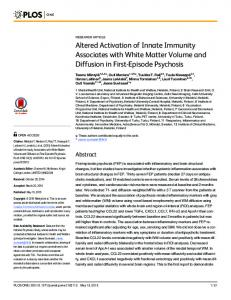 Altered Activation of Innate Immunity Associates with White ... - Plos