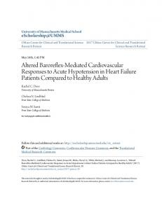 Altered Baroreflex-Mediated Cardiovascular ...