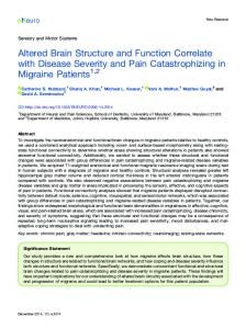 Altered Brain Structure and Function Correlate with