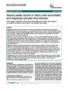 Altered cardiac rhythm in infants with bronchiolitis
