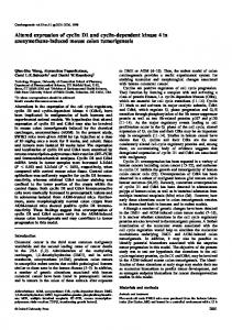 Altered expression of cyclin D1 and cyclin ... - Semantic Scholar