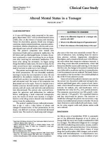 Altered Mental Status in a Teenager Clinical Case ... - Clinical Chemistry