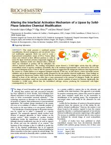 Altering the Interfacial Activation Mechanism of a Lipase by Solid ...