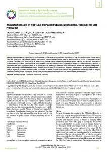 alternaria diseases of vegetable crops and its ... - BioInfo Publication