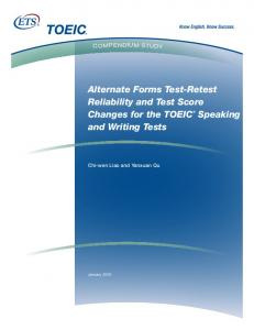 Alternate Forms Test-Retest Reliability and Test Score Changes for ...