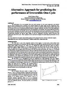 Alternative Approach for predicting the performance of