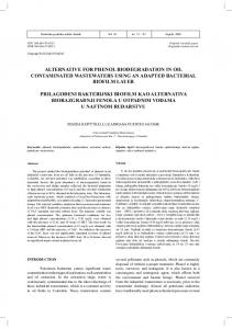 alternative for phenol biodegradation in oil contaminated wastewaters