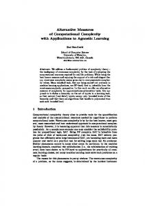 Alternative Measures of Computational Complexity ... - Semantic Scholar