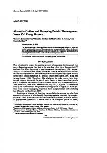 Alternative Oxidase and Uncoupling Protein - Springer Link