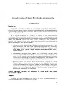 Alternative tourism in Bulgaria: diversification and ... - OECD.org