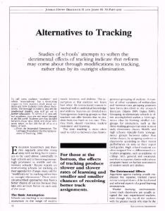 Alternatives to Tracking