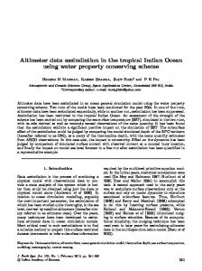 Altimeter data assimilation in the tropical Indian Ocean using water