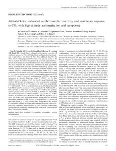 AltitudeOmics: enhanced cerebrovascular reactivity and ventilatory ...