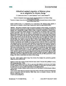 Altitudinal assisted migration of Mexican pines ... - Wiley Online Library