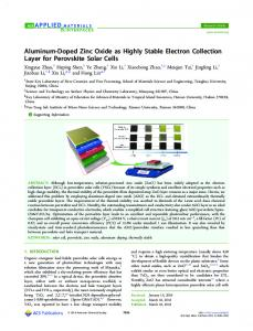 Aluminum-Doped Zinc Oxide as Highly Stable ... - ACS Publications